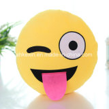 Het grappige Hoofdkussen Emoji van het Stuk speelgoed van de Pluche van Jonge geitjes Kleurrijke
