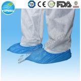 Cubierta desechable CPE de zapatos de plástico PE para el Hospital Industria
