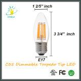 Lâmpada de vela LED C35 6W Diodo emissor de luz de torpedo de economia de energia de 6W