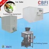 Le client Cbfi a accueilli la machine de fabrication de glace comestible à conception intégrée