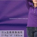 210G/M2; Одиночная ткань рубашки пола Pique хлопка