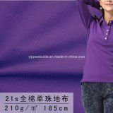 210G/M2; 単一の綿の悪感情のポロシャツファブリック