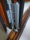 Алюминиевая дверь двери складчатости рамки алюминиевая двойная стеклянная