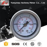 Qualidade elevada 1,5 Y40 40mm em aço inoxidável Medidor de Pressão