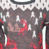 Weihnachtsgeschenk von Ladeis Strickjacke im Jacquardwebstuhl-Entwurf und in der Acrylwolle-Qualität weiches Handfeel