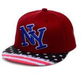 Chapeau plat rouge de bord de Ny (JRN092)