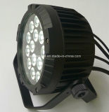 Outdoor IP65 18*18W UV RGBWA 6en1 conduit par