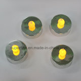 Indoor Romantic Amber Flickering Flameless Plastic LED Tealight Candle