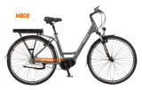 Lärmarme schwanzlose der Motor8fun 36V graue blaue weiße elektrische Fahrrad-Dame Scooter Fahrrad-Stadt-E