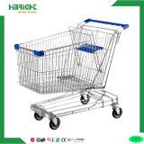 Carro de compra asiático do supermercado do metal com assento do bebê