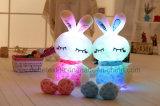 جميل يحشى قطيفة لعبة مع [لد] ضوء-- جذّابة لون قرنفل أرنب حيوان لعبة