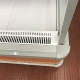 Refrigerador dianteiro aberto do caso de indicador do suco de fruta do supermercado