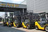 国連保証12か月のの元の任意選択日本エンジンを搭載する3.0トンのディーゼルフォークリフト