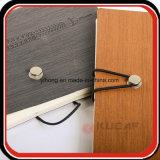 Cuaderno del diario de la PU de Debossed del encierro del botón del metal