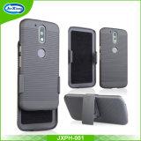 para la cubierta protectora del teléfono de Kickstand de la armadura a prueba de choques de Motorola G5
