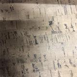 Matériau en cuir de liège Cuir PU bois-grain pour chaussures, meubles, sac (HS-M309)