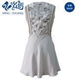 Светло-серый изысканным элегантным образом Дамы платье с завода валика клея