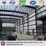 Structure en acier préfabriqués moderne entrepôt de stockage avec Brickwall