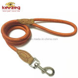 De haute qualité à la main en nylon / Durable Cow Leather Dog Rope Leash (KC0109)