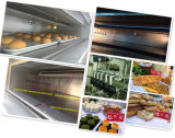 Industrieller 2 Tellersegment-Brot-Backen-Gas-Pizza-Ofen der Plattform-4