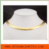 Collana piana della catena del serpente della lamina piana degli accessori dell'acciaio inossidabile di alta qualità di modo (SSNL2629)