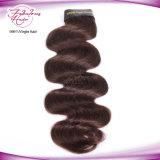 Cheveu brésilien de bonne qualité des extensions 2# Remy de cheveu de couleur d'onde de corps