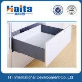 Sistema de caixa de metal elegante com corrediças de gaveta escondida suave fechada, altura de 167 mm