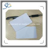 Carte sans contact d'IDENTIFICATION RF de proximité blanc avec la mini étiquette de trou imprimable