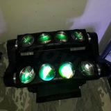 8 12W LED RGBW teia de deslocamento do feixe luminoso do farol