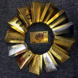 Folha de ouro de 24k PVC plástico Dólar Poker jogando baralho