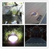 IP68 lampada chiara sotterranea solare della piscina del giardino inossidabile LED