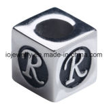 Custom Engraved Logo Jewelry Bead Metal Letter Charms