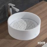 Badezimmer-Möbel-feste Oberflächenhandacrylsauerwaschbecken (1711240)