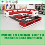 Base di sofà domestica di legno del cuoio genuino della mobilia