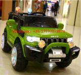 Do carro plástico educacional do brinquedo do bebê do jipe passeio de controle remoto no carro