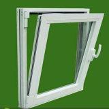 Precio de Venta Directa de Fábrica de Foshan UPVC inclinar y girar el doble de Abrir ventana de cristal con persianas