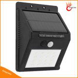 LED屋外の経路の壁ランプの機密保護の点の照明のための太陽ランプPIRの人間の動きセンサー太陽ライト
