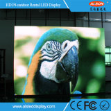 P4 visualización a todo color de alquiler de alta resolución LED al aire libre TV