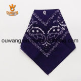 "Moda Paisley Handkerchief Multifuncional Magic Bandana 100% Algodão 22 ""* 22"" Customized Gift Promocional"