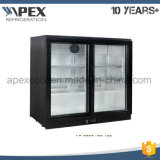 Due portelli sotto il frigorifero commerciale del dispositivo di raffreddamento della barra, dispositivo di raffreddamento posteriore della barra