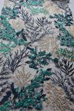 tessuto del merletto del ricamo della pianta della maglia di modo per Dressing e la tessile domestica della signora