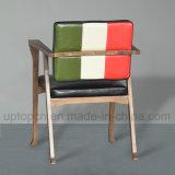 Restaurante Cadeira de mobiliário moderno em madeira com três cores e Braço (SP-CE650)