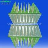 Beutelfilter-Aufbau und synthetische Faser-mittlerer materieller Pocket Luftfilter-Beutel