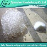 高品質日本および赤ん坊のおむつの使用法のための中国のブランドの吸収性の樹液