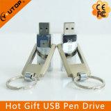 Movimentação superior do flash do USB do metal pesado da torção feita sob encomenda do giro do logotipo (YT-1209)