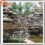 Jardim de design novo Fonte de água de rocha artificial de resina de pedra