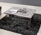 Moderne Möbel, Hotel-Kaffeetisch, glänzender Edelstahl-Kaffeetisch T-67