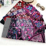 Nouveau design Fashion Lady Satin Printied Sillk écharpe châle avec