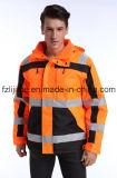 Зимние светоотражающие мягкий высокая видимость безопасности куртка