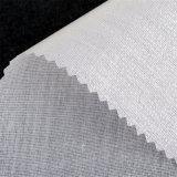 Tejido de algodón superior Buckram fundido entrelazado para el cuello de la camisa